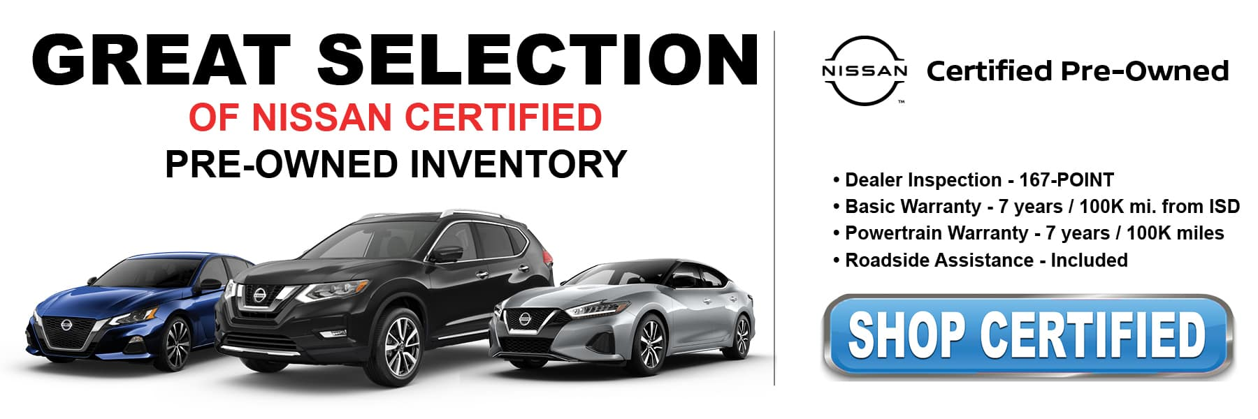 Shop Certified Pre-Owned Inventory at Kelly Nissan of Woburn