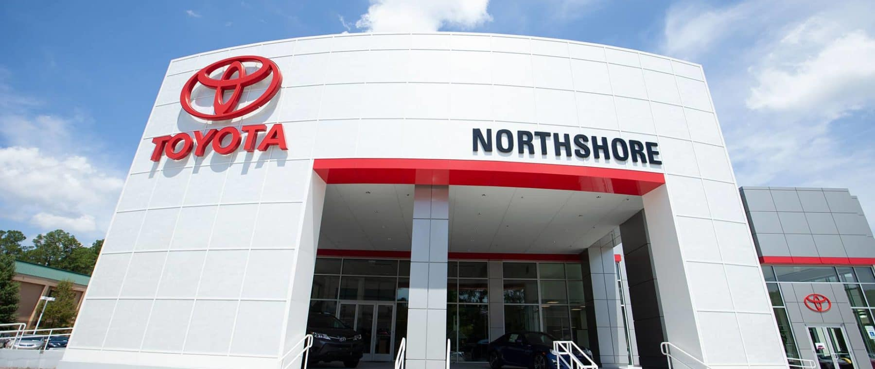 The front of Northshore Toyota