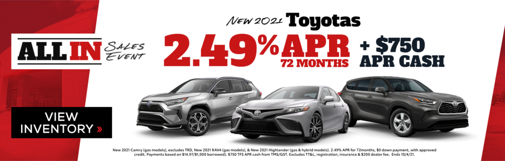 New 2021 Toyotas