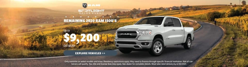 Remaining 2020 Ram 1500s