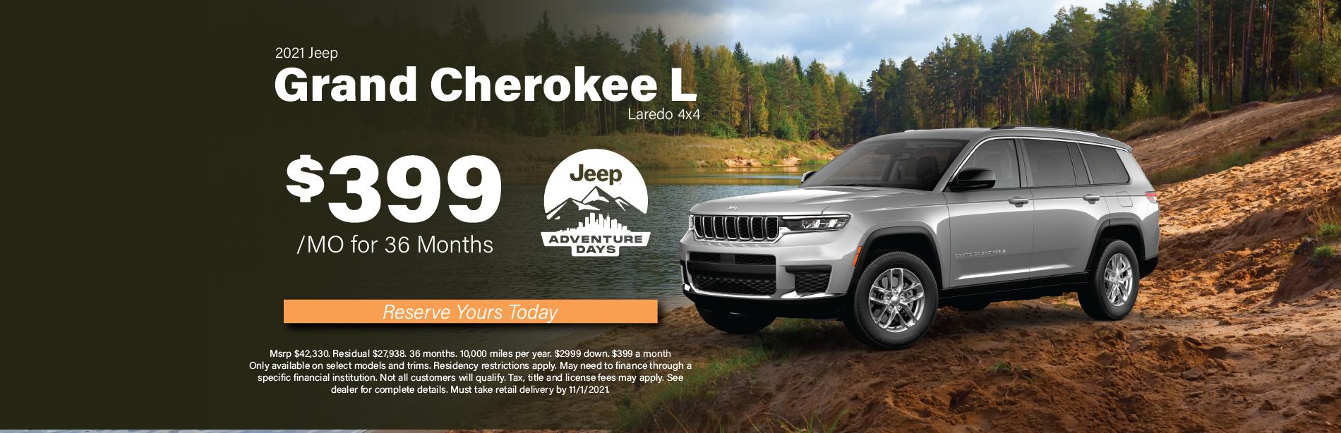 Grand Cherokee L Laredo – Peterson Oct 2021