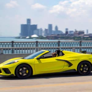2022 Chevrolet Corvette Convertible with C8.R Edition package in Accelerate Yellow Metallic