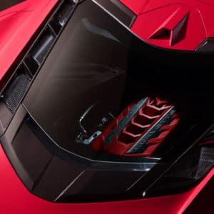 2022 Chevrolet Corvette Coupe rear engine view