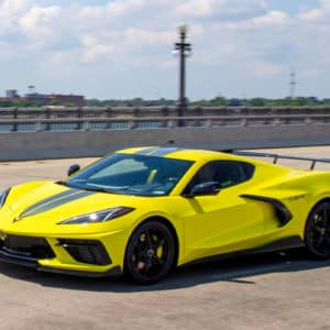 2022 Chevrolet Corvette Coupe with C8.R Edition package in Accelerate Yellow Metallic