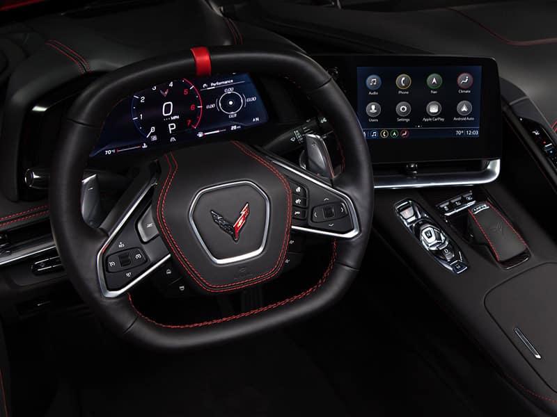 2022 Chevrolet Corvette interior comfort and driver technology