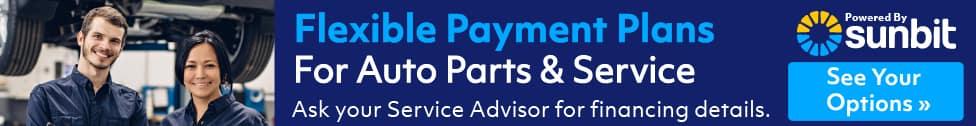 Flexible Payments Plans Banner