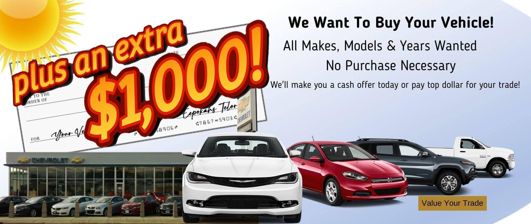 We Want To Buy Your Vehicle at Shakopee Chevrolet