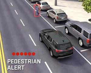 front pedestrian braking