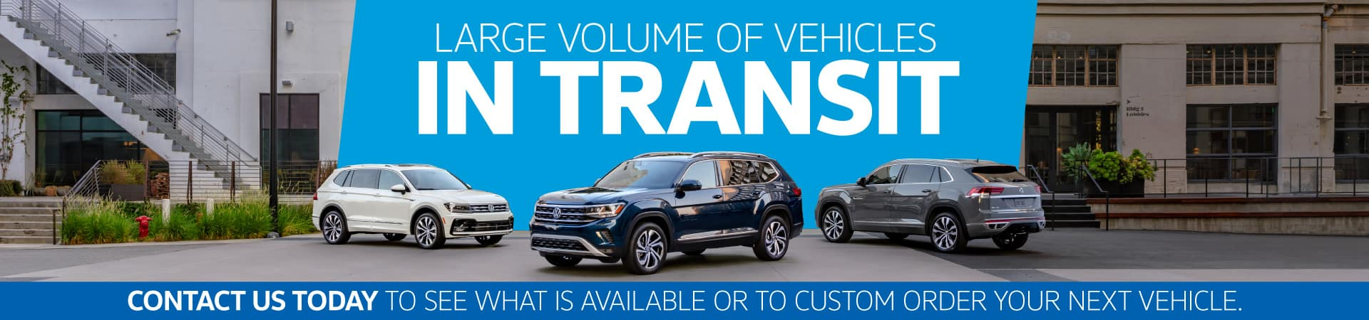 Large Volume of Vehicles In Transit - Contact Us Today