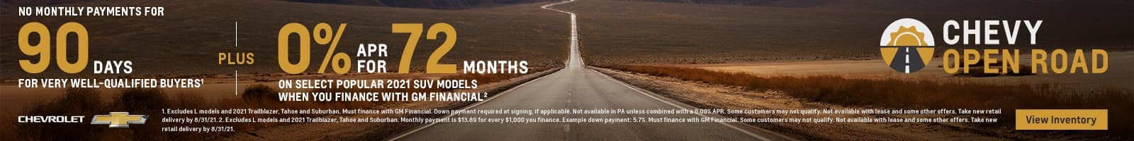 12_AUGUST_OPEN ROAD DEFERRAL PLUS APR_NATIONAL_1600x200_Banner